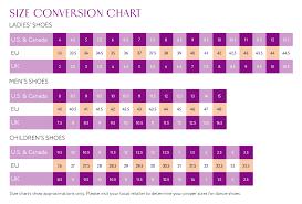 Unisex Shoe Size Conversion Chart Vivante Rp Stretch Canvas Ballet Slipper Unisex