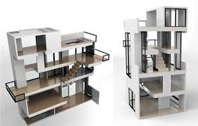 modern doll furniture. brinca dada bling dollhouse expensive green ecofriendly modern doll furniture