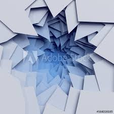 Layered Background 3d Render Abstract Layered Background Paper Cut Hole Blue White