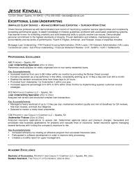 Underwriter Resume Sample Underwriting Resume Free Templates Project