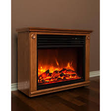 lifesmart life zone series 29 in infrared electric fireplace in brown mantle surround with quakerstown