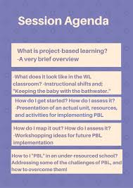 navigating project based learning in level spanish classes see the agenda for topics below these questions posed will be answered through the concrete resources that participants will have access to following the