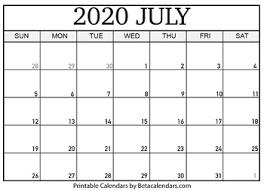 Calendar July 2020 Printable Blank July 2020 Calendar Printable By Mateo Pedersen Tpt