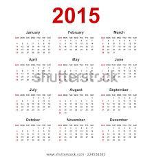 Calendar Blank 2015 Simple European 2015 Year Blank Calendar Business Finance