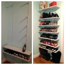 closet shoe shelves closet shoe rack storage ideas for small spaces pertaining to shelving shoes designs