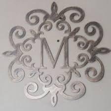 metal initials wall art
