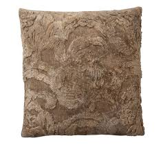 natalia silk jacquard pillow cover mocha