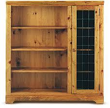 deluxe bookcase w beveled glass door