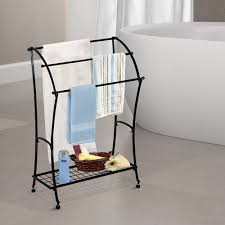 standing towel rack. HOMCOM Bathroom Floor Towel Holder Free Standing Rack Stand Black - Online Only S