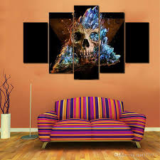 Modern Art Paintings For Living Room Cheap Horror Skull Canvas Painting No Frame Living Room Wall