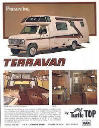 used motorhome van used motorhomes 1981 turtle van terravan ford motorhome rv brochure r2288 zbg7dg
