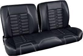 tm5141110 1947 59 gm truck pro classic sport x 55 bench seat black vinyl w white stitches black grommets