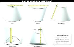 how to measure for a lampshade how to measure lamp shade correct size lamp shade measuring