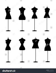Types Of Design In Fashion Silhouette Fashion Dress Forms Vector Set Stock Vector