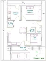 north facing house plans in 30 40 site best of east facing house plan according