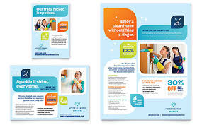 Ad Page Templates Cleaning Services Flyer Ad Template Design