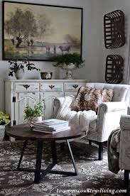 cozy sitting room in neutral tones with new rug