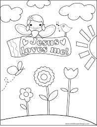 Jesus Loves Me Coloring Page Sunday School Love Coloring Pages