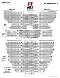 Seating Chart Alex Theatre