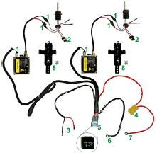hid xenon headlight wiring harness