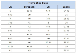 Men S Shoe Size Chart Australia Clothing Size Conversion Charts For Shopping Abroad