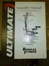 Bowflex Ultimate 2 Exercise Chart Bowflex Ultimate 1 Assembly Instruction Direction Parts Manual
