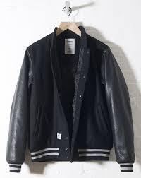varsity jacket leather sleeves