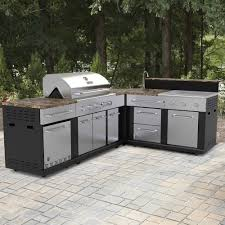 outdoor kitchen kits for new master forge corner modular outdoor kitchen set at lowe