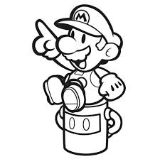 nintendo has released some pdfs on their anese kids for paper mario color splash you can print these out and color them or you can load them