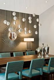 contemporary dining room lighting. dining room green curtains blue glass chandelier high back chairs black rectangle table sugar land s squared design houston interior u2026 contemporary lighting