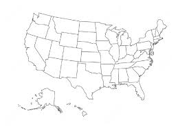 Template United States Template Printable Blank Map Of The