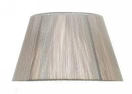 silk string shade silver grey 400mm