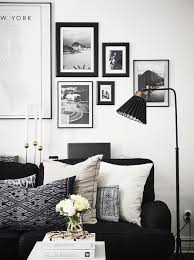 living room decor with black sofa. my scandinavian home: a swedish home with dramatic black accents living room decor sofa