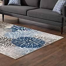 calithea vintage classic abstract fl 5x8 area rug blue brown and beige