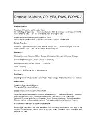 Resume For Pediatrician Cv Resume For Dr Dominick Maino