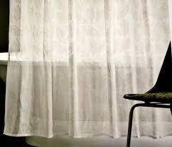 target home white skeletal leaf print ivory sheer fabric shower curtain