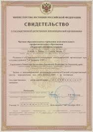 Свидетельство о государственной регистрации некоммерческой  Карта сайта