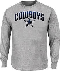 Sleeve View Dallas All Tee Apparel Ascender Cowboys Mens Grey Shirt Long Athletic