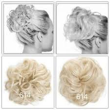 Details About Koko Hair Scrunchie Wrap Light Blonde Large Messy Bun Updo Wavy Curly Hairpiece