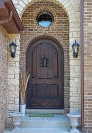 arched front doorrustic exterior doors arched round top in knotty alder wood with