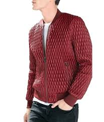 red er jacket mens quilted faux leather zara