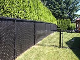 image of grey chain link fence privacy screen