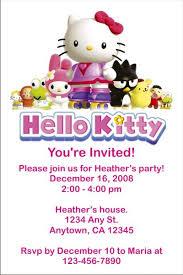 Hello Kitty Party Invitation Hello Kitty Invitations Click To Personalize