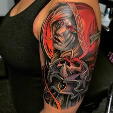 World Tattoo Of Sylvanas Warcraft Wow