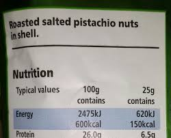 does the calorie count of these pistachio nuts include the s