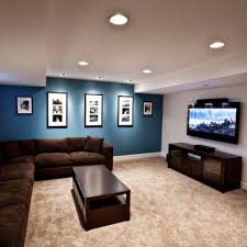 Awesome Basement Remodel Decorating Ideas: Sleek Minimalist Media Room  Brown Sofa Foxgate Renovation ~ SQUAR ESTATE Architecture Inspiration Like ... Pinterest