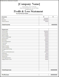 P And L Format Remarkable Profit And Loss Statement Template For Small