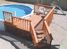 Above ground pool deck Diy Wood Pool Deck Design It Is Important With Above Ground The Pool Factory Above Ground Pool Deck Design