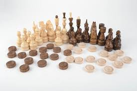 Handmade Wooden Board Games MADEHEART Handmade wooden table game chess and checkers 71