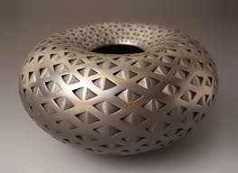 Michael Wisner Black Diamond Donut By Michael Wisner Ceramic Vessel Artful Home